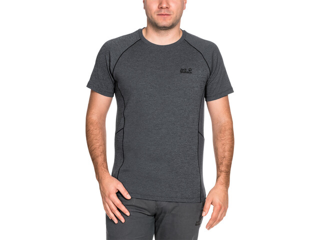 Jack Wolfskin Hydropore Athletic - T-shirt manches courtes Homme - gris